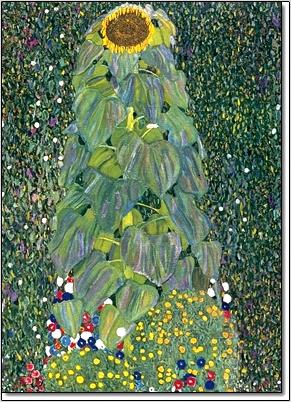 חמניות 1905 -קלימטקלימט,חמניות,אישה,זהב,מוזהב,אומנות קלאסית,ירוק,תכלת,