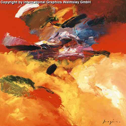 צבעים 1אבסטרקט חום כתום אדום חם דקורטיבי לוהט