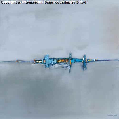 אופק כחולאבסטרקט בהיר אפור נוף דקורטיבי בתים
