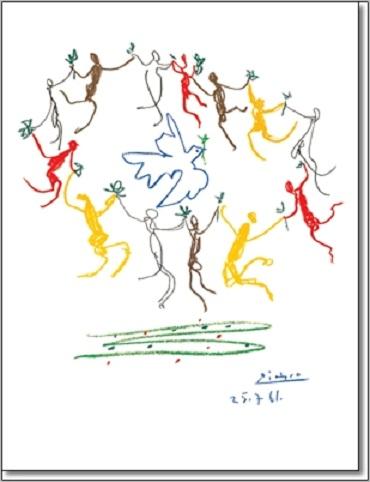 מעגל רוקדים - פיקאסופיקאסו, רוקדים,ריקוד,צבעוני,מעגל,שמח,אומנות קלאסית