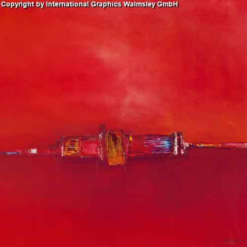 אופק אדום 1אבסטרקט חום כתום אדום חם דקורטיבי לוהט אש