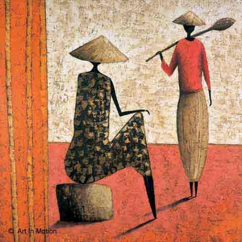 בשדהדמויות דמות אתני מזרחי אפריקה זוג עבודה