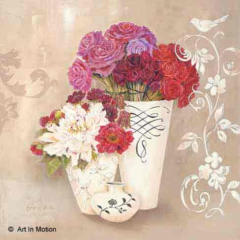 פריחה באגרטלפרחים רומנטי יופי רטרו שושנה אדומה כדים עציצים