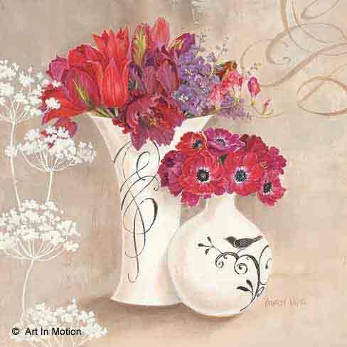 עוד פריחה באגרטלפרחים רומנטי יופי רטרו שושנה אדומה כדים עציצים
