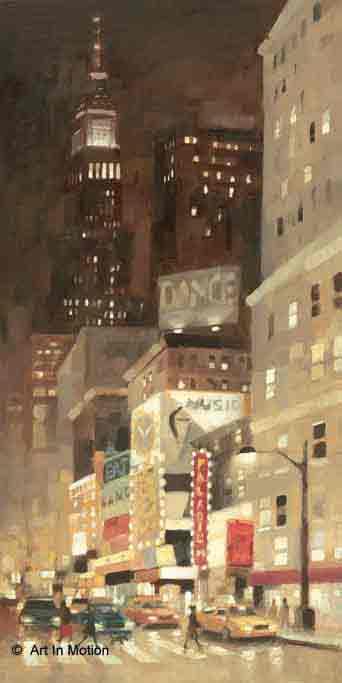 זוהר בעיר הגדולהניו יורק אורות שחור לבן ערים בנינים גבוהים