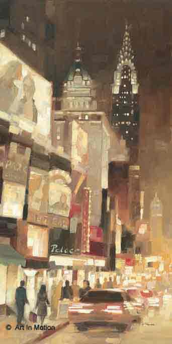 זוהר בשדרהניו יורק אורות שחור לבן ערים בנינים גבוהים