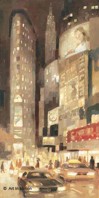 זוהר באמצע העירניו יורק אורות לילה בנינים גבוהים