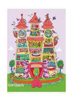 טירת הנסיכותבית מלכה ממלכה מלכות כיף משחקי ילדים חיוכים נאיבי