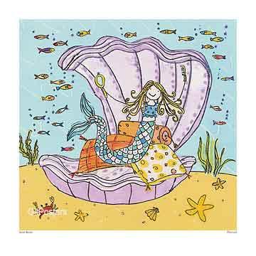 מנוחת בת היםצדפה צדף ים משחקי ילדים חיוכים נאיבי