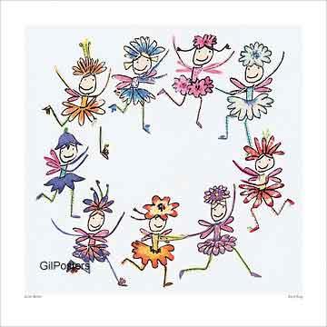ריקוד הפיותמעגל רקוד בנות  משחקי ילדים חיוכים נאיבי