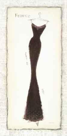 ווג - vogue silhouette כרזה אישה שימלה שמלות שחור לבן מודל ראווה פנים רומנטי  סקסי עיצוב