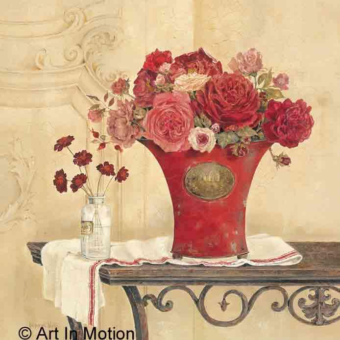שושנים וורדיםעציצים דקורציה אדומים פרח גדול פינת אוכל זר