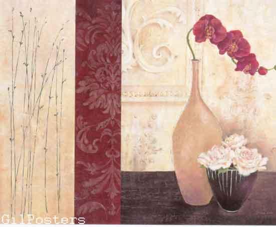 אדום ולבן 2פרחים רומנטי מודרני דקורטיבי יופי עיצוב דקורציה