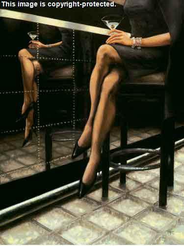 בחורה אווירה רגליים דמות שחור לבן