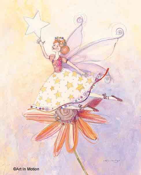 פיה וכוכבפיות ילדה בובה ורודה חדר ילדים שרביט רקדנית נעלי ריקוד