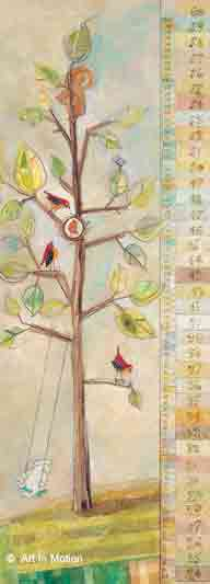עץ מד גובה חדר ילדים נאיבי