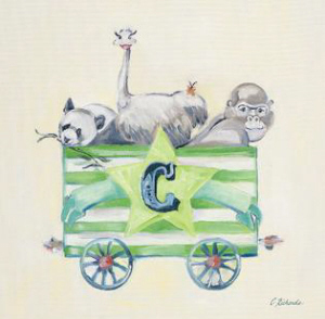 חיות ברכבת Cדוב פנדה, יען, גורילה , קרון C