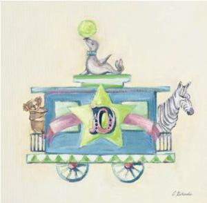 חיות ברכבת Dקואלה, כלב ים, זברה, קרון D
