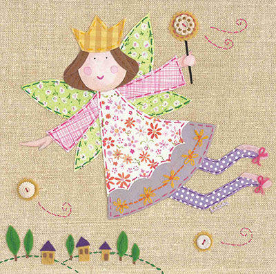 נסיכת פיות מתוקהטלאים פיה גינה נאיבי פרחים עפה שרביט