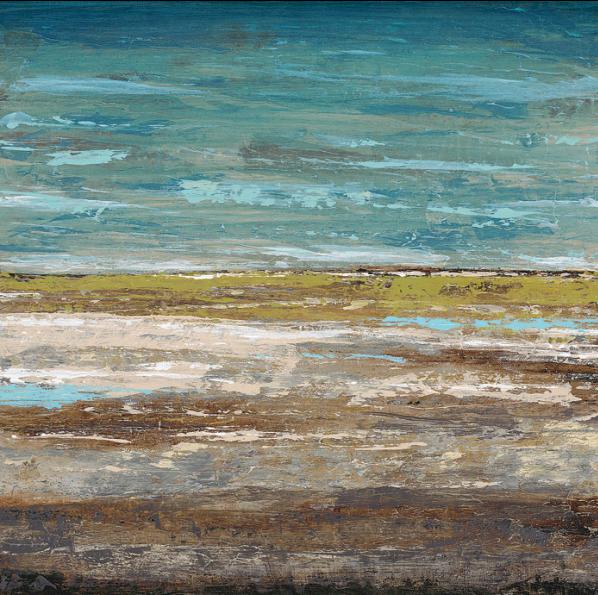 ים אבסטרקטי 2כחול, ים, אבסטרקט, ציור, כתמים , ציור
