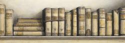 ספרים בצבע שמנתוינטג', ספרים, מדף, ספרים ישנים, דקורטיבי