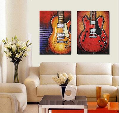 גיטרותתמונות לסלון תמונות לבית פרויקטים סט תמונות