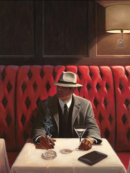 מפגש מקרי 2בר, איש , בחור, סיגריה, וינטג', שנות החמישים, דיינר, אמריקאי, אפל, לילה, סיפור, כובע, פדורה, ג'קט,