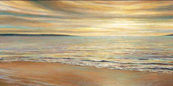 מפרץ השקיעהאבסטרקט, ים, שקיעה, גלים, חוף, צבעים, שמש