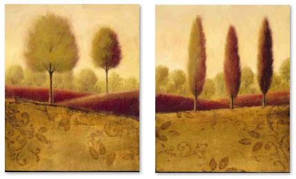 עצים ונוף סט תמונות  שדה