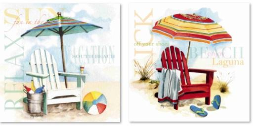 כסאות בים  נוף ים