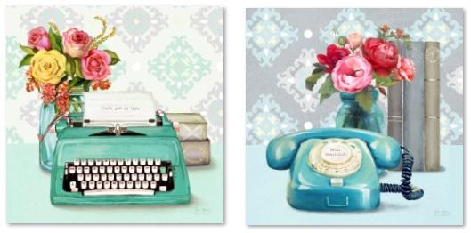 טלפון ומכונת כתיבה
