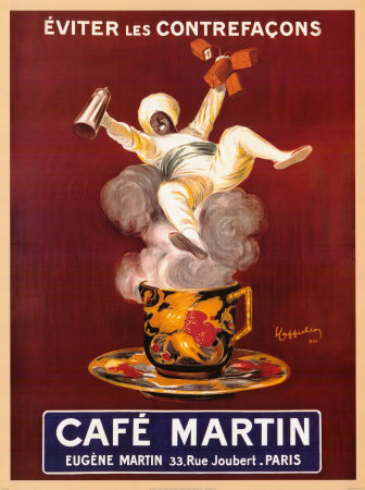 cafe-martinכרזה , וינטג', הודי, ספל , אדים, פרסומת , בורדו