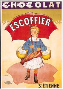 Poster Chocolat Escoffier