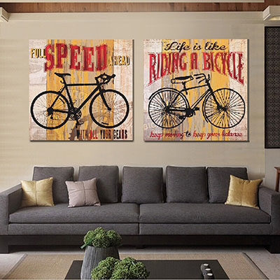 אופנייםתמונות לסלון  תמונות לבית