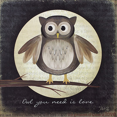 Owl-You-Need-Is-Loveציפור