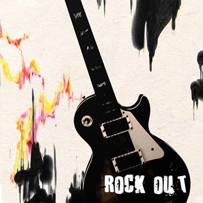 rock out guitarמוסיקה מוזיקה