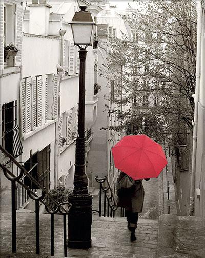 טיול בגשםמטריות גשם  -