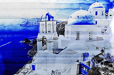 סנטוריני  - יווןנוף עירוני