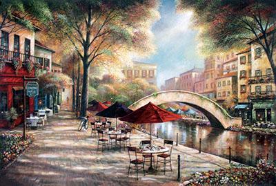 בית קפה ונהר