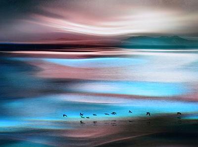 צבעים על המיםשקיעה