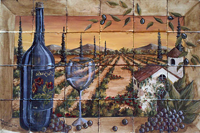 איטליה   כרמים שדה  טוסקנה תמונות של יין