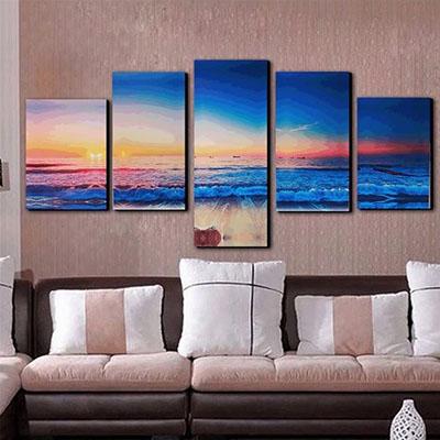 נוף ים - שקיעהתמונות לסלון תמונות לבית פרויקטים