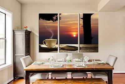קפה עם שקיעהתמונות לסלון תמונות לבית פרויקטים