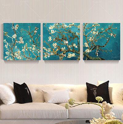 שקדיה - ואן גוךתמונות לסלון תמונות לבית פרויקטים