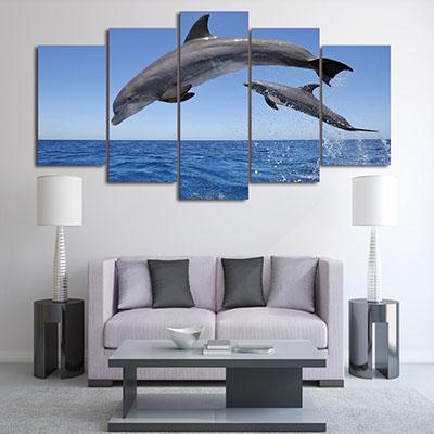 דולפיניםתמונות לסלון תמונות לבית פרויקטים סט תמונות