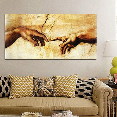 בריאת האדם - מיכלאנג'לו תמונות לסלון תמונות לבית פרויקטים סט תמונות