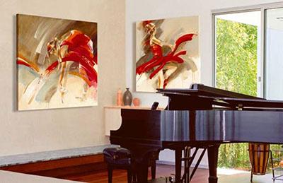 רקדניות (סלון) פרויקטים תמונות לסלון