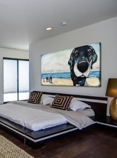 כלב וים  (חדר שינה) פרויקטים תמונות לחדר שינה