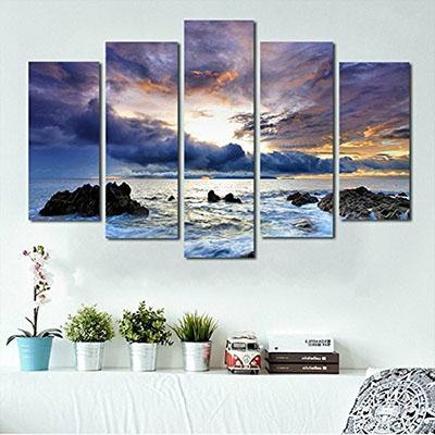 נוף ים (סלון)פרויקטים תמונות לסלון שקיעה  תמונות לחדר שינה