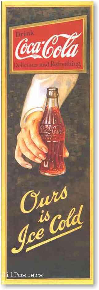 קוקה קולהרטרו פרסומת משקה קר בקבוק